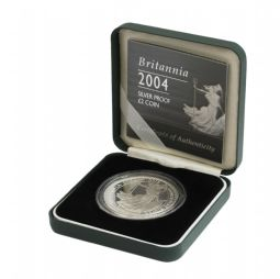 2004 Silver Proof Britannia Single With Certificate for sale
